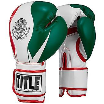 Titel boksen geïnfundeerd schuim El Combate Mexico haak en lus trainings-handschoenen