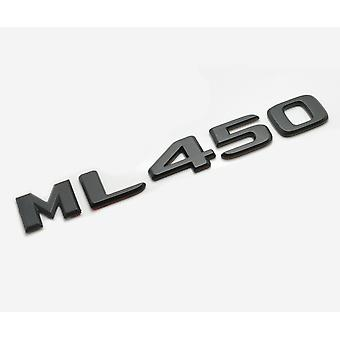Matt Black ML450 Flat Mercedes Benz Car Model Numbers Letters Badge Emblem For M Class W163 W164 W166 AMG