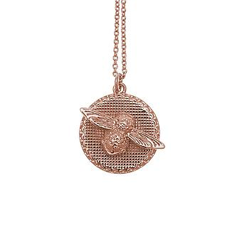 Olivia Burton Watches Obj16amn09 3d Bee & Coin Necklace Rose Gold
