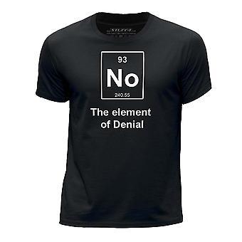 STUFF4 Boy's Round Neck T-Shirt/Funny Periodic Element / Denial/Black