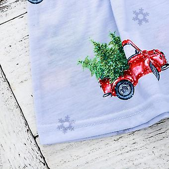 Infant Baby Girls Xmas Dress Toddler Girls Christmas Tree Truck Printed Long ...