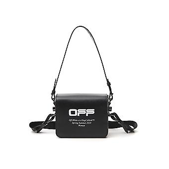 Off-white Owna011r204230731001 Women's Black Leather Shoulder Bag