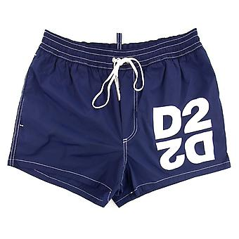 Dsquared2 Maillots de bain et sous-vêtements Dsquared2 Mirrored D2 Swim Shorts Navy