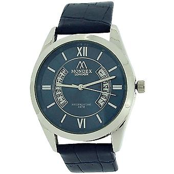 Mondex London Unisex Date Blue Dial & Blue PU Strap Casual Watch MLB464/02