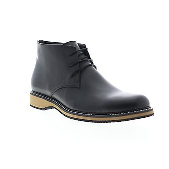 English Laundry Haddock  Mens Black Leather Lace Up Chukkas Boots Shoes