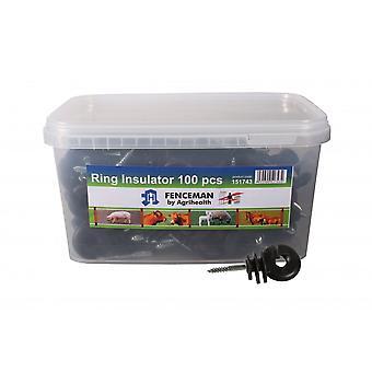 Schermman Elektrische Omheining Ring Isolator Pack Van 100