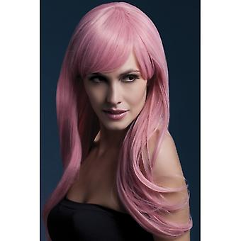 Febră Sienna peruca roz Longhair peruca roz