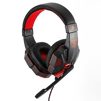 SY830MV Gaming Headset with LED, red