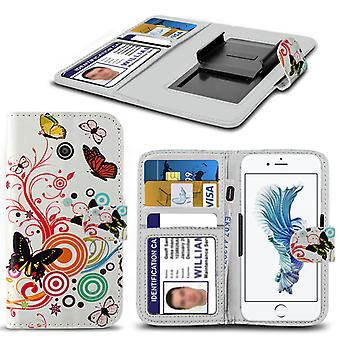 i-Tronixs Acer Liquid Z330 Case PU Leather Colourful Butterfly Printed Design Pattern Wallet Clamp Style Spring Skin Cover- Colourful Butterfly