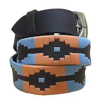Carlos diaz unisex  brown leather  polo belt cdpbhk34