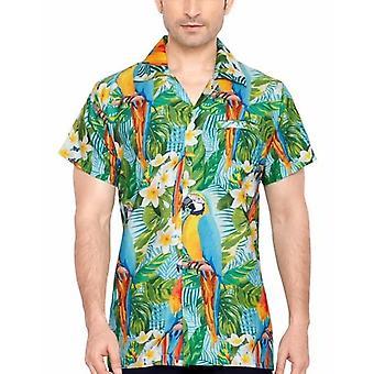 Club cubana men's regular fit classic short sleeve casual shirt ccd19