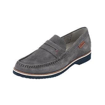 Sioux Slipper Edelwin Men's Loafer Grey Slip-Ons Business Shoes