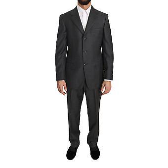 Ermenegildo Zegna Gray two Piece 3 Button Wool suit -- KOS1726064