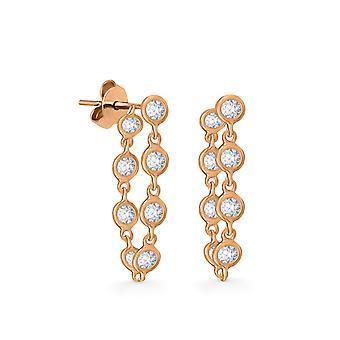 Earrings Constellation Diamonds Petite 18K Gold - Rose Gold