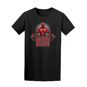 Turnhalle Kraftprotz keine Schmerzen keine Verstärkung T-Shirt Männer-Bild von Shutterstock