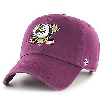 47 Brand Adjustable Cap - CLEAN UP Anaheim Ducks plum purple