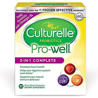 Culturelle pro-well 3-in-1 complete, capsules, 30 ea