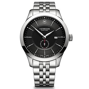 Victorinox Swiss Army Alliance Black Dial Silver Stainless Steel Bracelet Men's Watch 241762 RRP £460