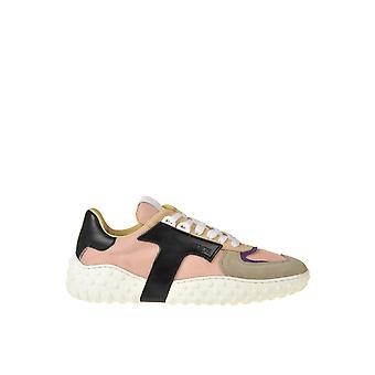 Tod's Ezgl027067 Kvinnor's Multicolor Suede Sneakers