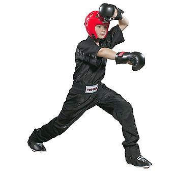 Top Ten Kids Mesh Kickboxing Pantalon noir/noir