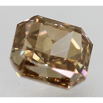 Cert 1.22 Carat Int Brown VVS1 Radiant Natural Loose Diamond 6.22x5.53mm
