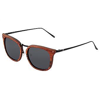 Earth Wood Nosara Polarized Sunglasses - Red Rosewood/Black