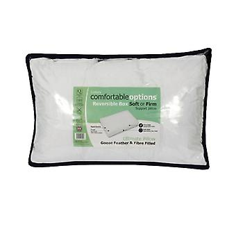 Comfortable Options Reversible 2 in 1 Box Pillow