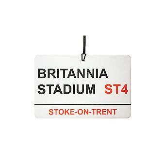 Stoke / Britannia Stadium Street Logg bil Air Freshener