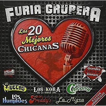 Various Artist - Grupera;Furia / 20 Mejores Chicanas [CD] USA import
