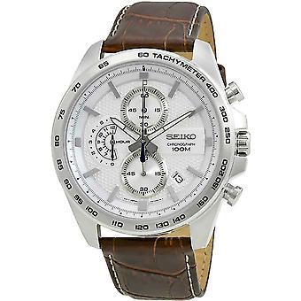 Seiko Quartz Watch SSB263P1 - Leather Gents Quartz Chronograph