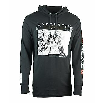 Diesel T-Fonty-YB Hooded Black T-Shirt