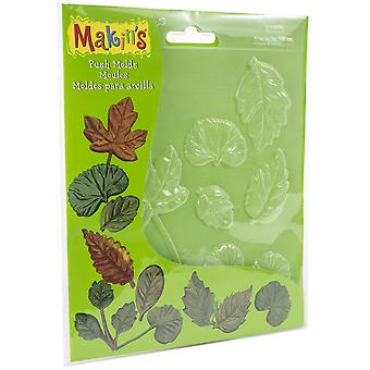 Makin's Clay Push Molds-Leaves