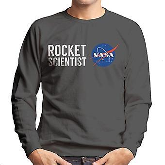 NASA-Rakete Wissenschaftler Herren Sweatshirt