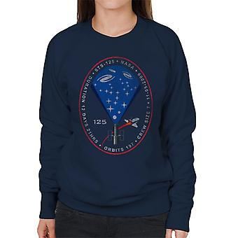 NASA STS 125 Atlantis Mission Badge Distressed Women's Sweatshirt