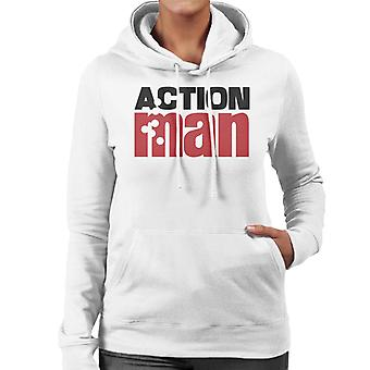 Action Man Logo Bullets Women's Hooded Sweatshirt