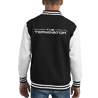 Terminator titel font logo text Kid ' s Varsity jacka