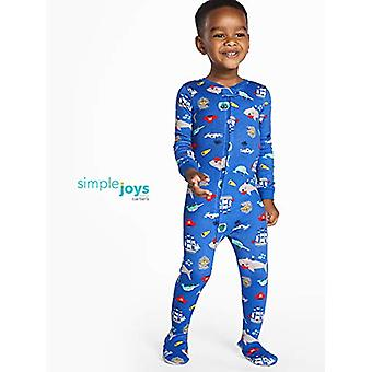 Simple Joys by Carter's Baby Boys' 3-Pack Snug Fit Footed Cotton Pajamas, Cra...