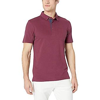 Goodthreads Men's Polo in sueded a maniche corte, Borgogna, XX-Large
