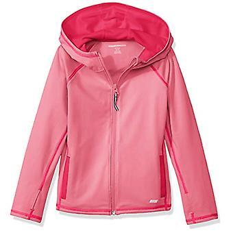 Essentials   Girls' Full-Zip Active Jacket, Pink, L (10)
