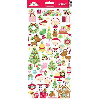 דודלבאג עיצוב חג המולד קסם סמלים מדבקה