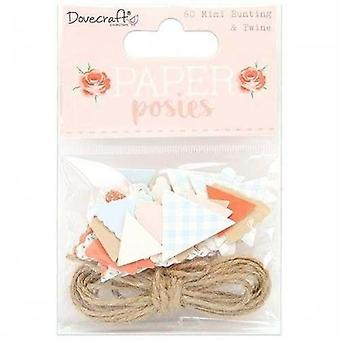 Dovecraft Paper Posies Mini Bunting & Ficelle