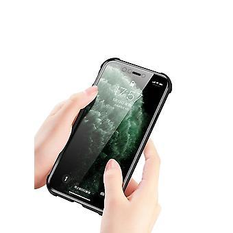 Mobiles Gehäuse aus doppelseitigem gehärtetem Glas für iPhone X - schwarz