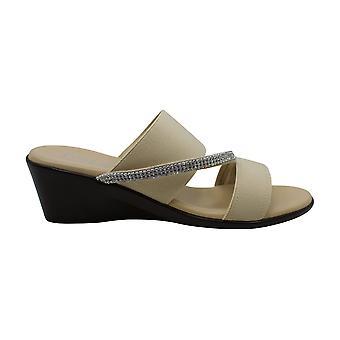 ITALIAN Shoemakers Womens maryam Open Toe Casual Slide Sandals
