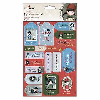 Gorjuss Die-cut Sentiments (2pk) (GOR 157900)