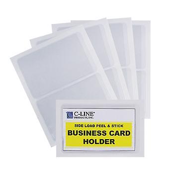 70238BNDL5PK, Titular de tarjeta de visita autoadhesiva, carga lateral, 2 x 3 1/2, 10/PK (conjunto de 5 PK)
