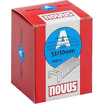 Type 53 fine wire staples 5000 pc(s) Novus 042-0518 Clip type 53/10 Dimensions (L x W) 10 mm x 11.3 mm