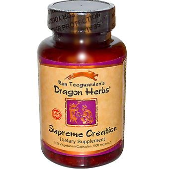 Dragon Herbs, Supreme Creation, 500 mg, 100 Veggie Caps