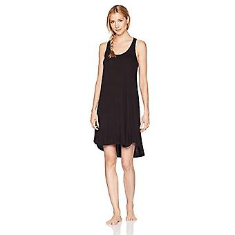 Brand - Mae Women's Sleepwear Long Racerback Nightgown, Black, Small