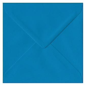 Martin pescatore blu gommata 155mm quadrati colorati blu buste. 100gsm carta sostenibile FSC. 155 mm x 155 mm. busta di stile del banchiere.