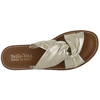 Bella Vita naisten Noa-Italia nahka avoin toe rento Slide sandaalit